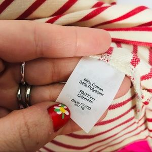 Madewell Dresses - Madewell Dress Striped Cream Red Cotton
